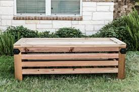 Garden Storage Bench Build by Diy Outdoor Storage Ottoman