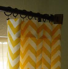 Gray And Yellow Chevron Shower Curtain by Pair Of 50 X 84 Corn Yellow And White Chevron Zig Zag Decorative