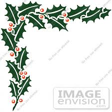 clipart of a retro christmas holly corner border royalty free