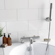 orchard wall or deck mount thermostatic bath shower mixer tap