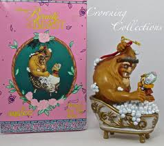 enesco for the beast disney ornament cogsworth bath tub