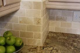 Stone Backsplashes For Kitchens Stunning Natural Stone Tile Kitchen Backsplash Features Cream