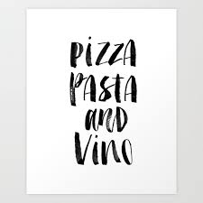 black and white prints for kitchen pizza pasta and vino black and white typography poster black white design home decor kitchen wall print by themotivatedtype