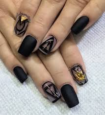 40 black nail art ideas black polish matte black and bald