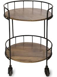 side accent tables rustic side table astoria rolling accent table industrial vibe