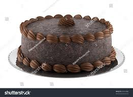 chocolate cake isolated on white stock illustration 83413888