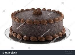 chocolate cake isolated on white stock illustration 83413888
