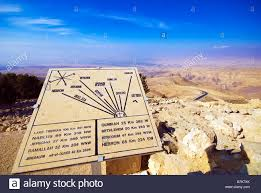 Map Of The Middle East by Map Of The Middle East At Mount Nebo Outside The Church Of Moses