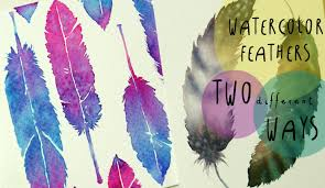 watercolor tutorial how to paint feathers in two different ways