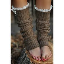 mardi gras leg warmers vintage lace trim open knitted leg warmers with buttons