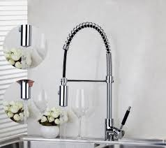yanksmart chrome brass swivel pull down kitchen faucet 8538 8