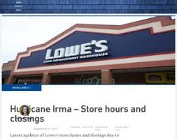 lowe s the lowe s store hours and closings due to