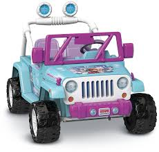 power wheels jeep hurricane green fisher price power wheels frozen jeep electric vehicles amazon