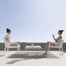 White Modern Outdoor Furniture by Gandia Blasco Butaca Flat Modern Outdoor Lounge Arm Chair Stardust