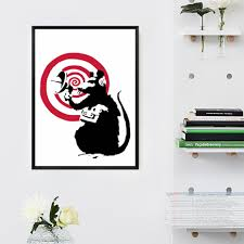 banksy rat reviews online shopping banksy rat reviews on radar rat by banksy print graffiti art canvas painting art poster canvas art wall pictures girl kids room decor no frame