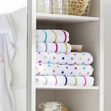 confetti dot bath towels pbteen