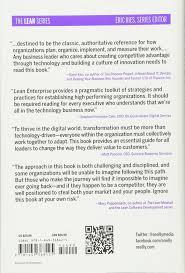 amazon com lean enterprise how high performance organizations