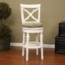 Wooden Swivel Bar Stool Great White Wooden Bar Stools With Backs Awesome White Swivel Bar