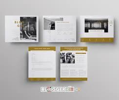 blogger blog media kit template sponsorship set microsoft