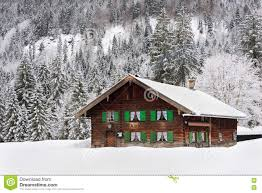 wooden house in bavaria in the snow stock photo image 76301488