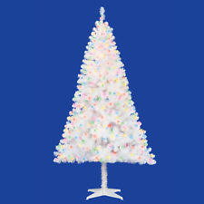 white pre lit christmas tree with colored lights white artificial christmas trees ebay