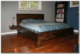 Build King Size Platform Bed Frame by Building Platform Bed Frame King Size Home Design Ideas
