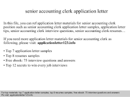 sample application letter for accounting clerk position huanyii com