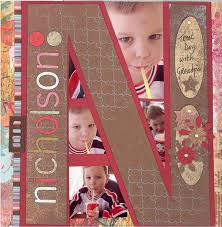 personalized scrapbook cover last name initial treat day scrapping page personalized