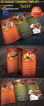 customizable menu templates tri fold restaurant food menu template by pmvch graphicriver