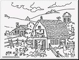 fabulous printable farm animal coloring pages for kids with farm