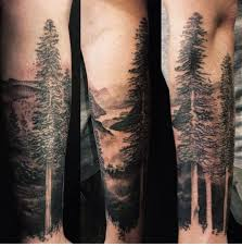 lower sleeve simple black and grey forest tree golfian com