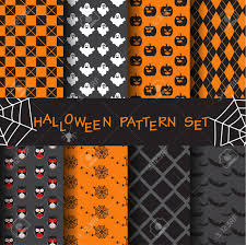 8 different halloween vector patterns endless texture can be