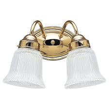 Polished Brass Bathroom Lighting Fixtures Sea Gull Lighting Brookchester 2 Light Polished Brass Vanity Light