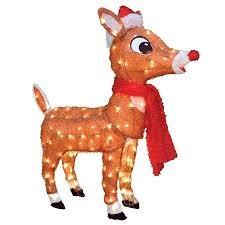 shop rudolph red nosed reindeer pre lit reindeer sculpture