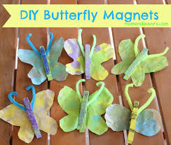 kids craft diy butterfly magnets