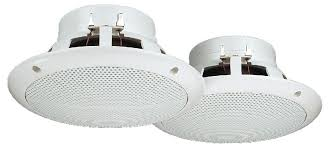 Flush Mount Ceiling Speakers by Low Impedance Ceiling Speakers Connevans Electronics