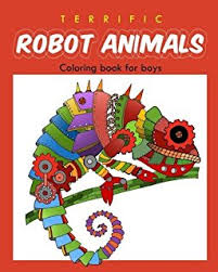 brilliant coloring book boys robot coloring book kids