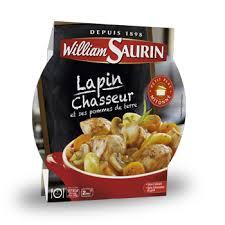lapin cuisiné lapin chasseur plats préparés et cuisinés par william saurin
