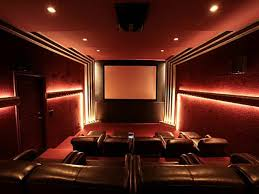 endearing home theater design ideas with gray blue fabric velvet