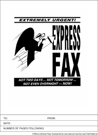 use this printable fax cover sheet for your most urgent express
