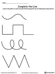 line pattern worksheet complete the line using the same pattern myteachingstation com