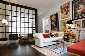 Ideas For Decorating Wall With Posters A Vintage Atmosphere In - Vintage modern interior design
