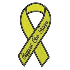 black and yellow ribbon support awareness ribbons machine embroidery instant