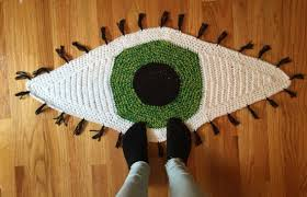 custom crochet eye rug area rug eyeball rug crochet rug