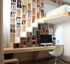 mezzanine bureau aménager une chambre bureau suspendu bibliothèque avec