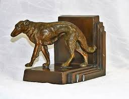 art deco dog ring holder images Borzoi russian wolfhound dogs animals collectibles picclick jpg