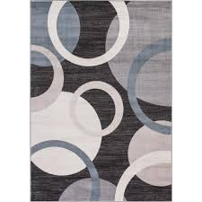 Concord Global Area Rugs Concord Global Trading Lara Circles Anthracite 7 Ft 10 In X 10