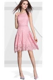 stylish dress zumeet women lace crafted halter length stylish dress pink