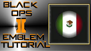 call of duty black ops 2 mexican flag emblem tutorial youtube