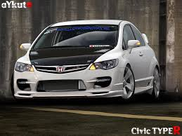 honda civic modified white honda civic type r by aykutfiliz on deviantart